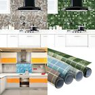 Kitchen  Oil Water Proof Adhesive Decor Removable Tiles Wall Stickers