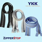"14"" to 36"" #5 Aluminum Separating Jacket Zipper YKK~ZipperStop - Medium Grey 578"