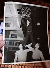 Ellen Corby Signed WWII Photos of her dunking basketball & photo from friend USO