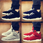 New Fashion Men's Casual Suede Ankle Boots High Top Loafers Sneakers Flats Shoes