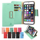 For iPhone 5 5S/SE/6 6S/6 6S Plus Card Slot Slim Flip Leather Wallet Case Cover