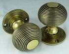 Pair Of Antique Solid Brass Beehive Door Knobs Traditional Antique Style