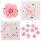 5pcs Dots Design Flower Fimo Polymer Clay Charms Spacer Beads Findings 50mm D