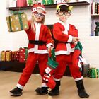 Boys/Girls Santa Claus Suit Christmas Fancy Dress Costume Five-piece Set Costume