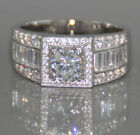 New White Sapphire  Birthstone 925 Silver Filled Wedding Bridal Size 6-10 Ring