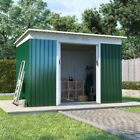Boxer Metal Garden Shed Pent Roof | Central Sliding Double Door Outdoor Storage