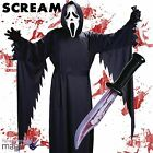 Official Licensed Teen Ghostface Scream Fancy Dress Outfit Halloween Knife Lot