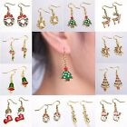2017 Jewelry Christmas Tree Deer Xmas Women Drop Dangle Earrings New Year Gift