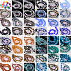 30Pcs 8mm Rondelle Faceted Charms Crystal Glass Loose Spacer Beads 238Colors