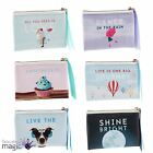 Vintage Slogan Coin Purse Quote Change Wallet Gift Present Stocking Filler Mini