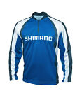 Shimano Technical Long Sleeve Sublimated Zip T-shirt Blue XXXL