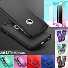 Luxury Full Body Protect Hard Slim Case Cover W/Tempered Glass For iPhone 6 Plus