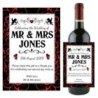 Personalised Mr & Mrs Wedding Love Anniversary Wine Champagne Bottle Label N97