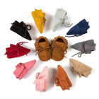 Infant Newborn Baby Girl Boy Soft Sole Toddler Tassel Boots Moccasin Crib Shoes