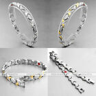Lady Health Care 4 in 1 Bio Germanium Magnet Energy Heart Therapy Steel Bracelet