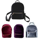 Top Sell Velvet Backpack Zipper handbag Mini Satchel Retro Girl School Bag TBUS