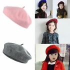 1pc Lovely Soft French Style Kids Hat Wool Beret Girls Cap Winter Warm Princess