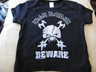 *NEW* IRON MAIDEN BEWARE SILVER LOGO BLACK T SHIRT 3-6, 12-18, 18-24 Mth