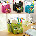 Desk Organizer 9 Compartments Metal Mesh Desktop Office Pen Holder Storage Box