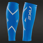 NIB 2XU MENS UA1987B Compression  Calf Guard Performance Run Blue ALL SPORTS $50