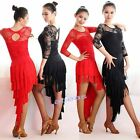 New Adult Latin Dance Two Piece Dress Suits Tassels Rumba Cha Cha Samba Ballroom
