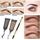 2pc Brown Waterproof Tint Eyebrow Henna With Mascara Eyebrows Paint Brush Beauty