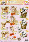 ANIMALS 3D Decoupage Die Cut Sheets