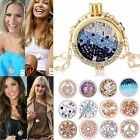 MY Coin Mi Crystal CZ Disc Charms Locket For DIY Woman Pendant Necklace Chain