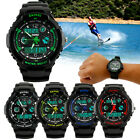 New Mens LED Digital Date Alarm Waterproof Rubber Sports Army Watch Wristwatch image