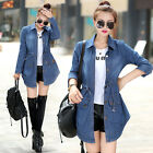 Fashion New Women Denim Jacket Cotton Jeans Coat Ladies Buttons Long Outerwear