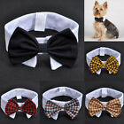 Adorable Dog Cat Pet Puppy Kitten Lattice Fashion Bow Tie Clothes Necktie Collar