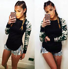 Fashion Womens Casual Camouflage Long Sleeve Tops Shirt Ladies T-shirt Blouse