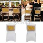 "9""x14"" Gold Glitter Mr Mrs Sign Burlap Chair Banner for Wedding Party Prop Decor"