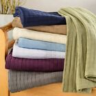 BASKET WEAVE Blanket, 100% Cotton, Comfy For All Season, 8 Colors image