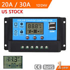 12-24V 20/30A LCD Display PWM Solar Panel Battery Regulator Charge Controller MT