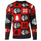 Chicago Blackhawks Ugly Sweater Crewneck  NHL 2016 Patches All Sizes $39.95 USD on eBay