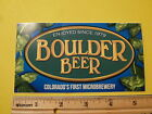 Beer Sticker BOULDER BEER Co COLORADOS First Micro Brewery Since 1979