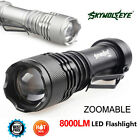 SkyWolfeye 8000 LM  Q5 LED Flashlight Zoomble Mini Torch Light Lamp AA 14500