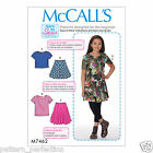 McCall's 7462 Sewing Pattern to MAKE Girls'/Girls' Plus Knit Top & Flared Skirt