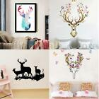 Removeable Chirstmas Deer Elk Sika Wall Sticker Vinyl Quote Wall Sticker Decor