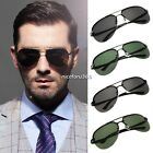 Mens Polarized Metal Frame Round Casual Outdoor Aviator Pilot Sunglasses