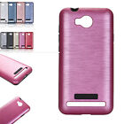 Dual Layer Slim Hybrid Hard Rubber Brushed Metal Case Cover For Huawei P9 Y6 II