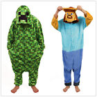 Minecraft Steve Onesiee Kigurumi Fancy Dress Costume Hoody Pajamas Sleep wear