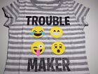 New Emoji shirt girls size XS S M L XL Emoji Trouble maker shirt girls sizes