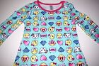 New Emoji pajamas nightgown girls sizes XS S M L Emoji pajamas night gown girls