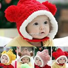 Fashion Kids Unisex  Winter Warm Hat 4 Colors 2 Balls Cute Hat Cap Hot Selling