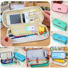 Kid Student's Canvas Pen Bag Pencil Case Cosmetic Bag Travel Washing Makeup Gift