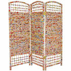 Oriental Furniture 4 ft Tall Recycled Magazine Room Divider