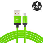 4-Pack Long 10FT Micro 10 Foot Feet Charging Charger Cable for Cell Phones