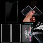 Clear TPU Case Tempered Glass Screen Protector Guard For Sony Xperia Models